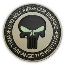 3D PVC Punisher Enemies Military Tactical Army Airsoft Biker Morale Patch Glow
