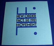 "NEW ORDER - FACT.50 1981 MOVEMENT - 12""LP - A2 Pressing UK 1981 - MINT Vinyl"