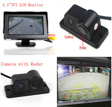 "Car Reverse Parking Camera With Radar Sensor & 4.3"" LCD Rear View Monitor"
