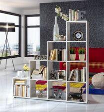 Wilmes: Treppenregal mit 10 Fächer - Raumteiler Bücherregal Stufenregal - Weiß
