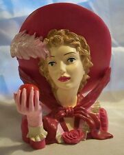 Cameo Girl Head Vase   Blythe 1826  Cameo on back,  numbered