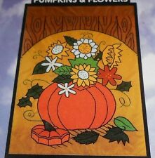 "Betsy Decorative Flags - #62124 Pumpkins & Flowers  28"" x 40"" - NEW, Sealed"
