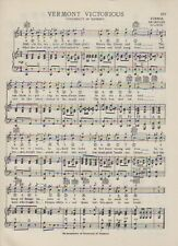 "VTG UNIVERSITY OF VERMONT song -c 1938 US - 'VERMONT VICTORIOUS"" BURLINGTON"