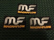 """MF MAGNA FLOW  RACING DECALS STICKER 4x2.75 INCH """"FREE SHIPPING"""" nhra drag"""