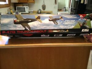 New R/C E-Flite  P-47D Thunderbolt Warbird ARF Kit With Motor