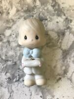 PRECIOUS MOMENTS Ring Bearer Boy Figurine Collectible - Ceramic - From 1983