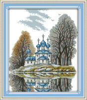 Joy Sunday Counted Cross Stitch Kit 14CT 11CT Printed 13*15in Embroidery Fabric