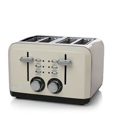 Haden Perth Sleek 4 Slice Toaster Cream 183460