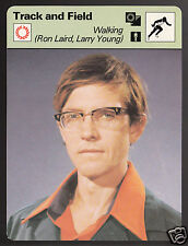 WALKING Ron Laird & Larry Young Track & Field 1977 SPORTSCASTER CARD 15-16