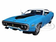 1971 PLYMOUTH ROAD RUNNER 440 6 PACK PETTY BLUE 1/18 BY AUTOWORLD AMM1012