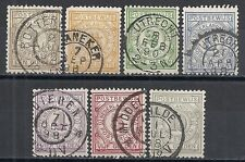 Netherlands 1884 NVPH PW1-PW7  CANC  VF