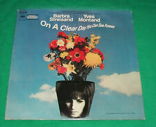 ON CLEAR DAY YOU CAN SEE FOREVER BARBARA STREISAND YVES MONTAND VTG RECORD ALBUM