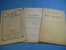 LOT 3 BROCHURES ULTRA-CATHOLIQUES1909-40 PAMPHLET REVOLUTION JESUITES REPUBLIQUE