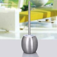 Modern Stainless Steel Bathroom Toliet Cleaning Brush & Holder Free Standing Set
