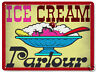 ICE CREAM PARLOR METAL SIGN for diner store VINTAGE style RETRO kitchen art 110