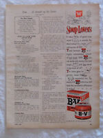 1955 Magazine Advertisement Page Wilson's B-V Meat Extract Soup Vintage Ad