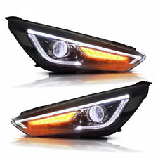 2Pcs Headlights assembly For Ford Focus 2015-17 Bi-xenon Lens Projector LED DRL