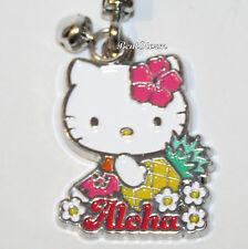 Hello Kitty HAWAII Pineapple Flowers Metal Charm Key Ring Chain Keychain Aloha