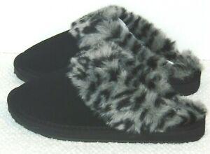 $$44.99  Minnetonka Selma Scuff II Clog Slippers  Black Size: US/6