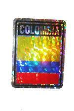COLOMBIA COUNTRY FLAG  METALLIC BUMPER STICKER DECAL .. 4 X 3 INCH