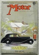 The MOTOR Magazine 7 Dec 1937 Lea Francis MG MIDGET T & STANDARD TEN Road Tested