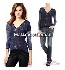 Karen Millen Bloggers Lightweight Star Print Relaxed  Jumper Top Blouse XS