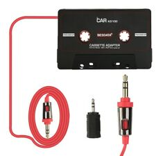 High Quality 3.5mm Car Mp3 Adapter Aux Cable Cord Tape Player Audio Stereo