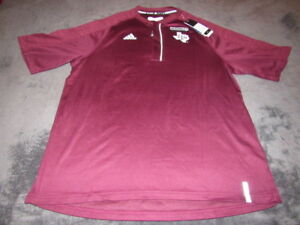 NWT Adidas Texas A&M Aggies Mens ClimaLITE SHORT SLEEVE JERSEY Mens LARGE