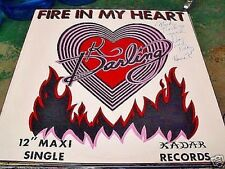 "K. DARLING - FIRE IN MY HEART  12"" MAXI SINGLE SIGNED!! 1983 KADAR"