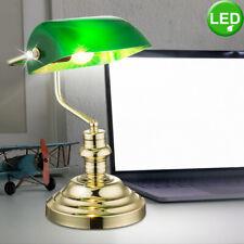 Nostalgie LED Lampe de Banquier Lampe de Bureau Bureau H 36 cm Laiton