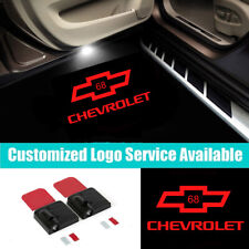 2Pcs LED Car Door Welcome Light for Chevrolet 68 Logo Projector Shadow Light