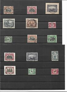 Eupen und Malmedy 1920-21, Einzelmarken aus MiNrn. 1 - 17 o, Auswahl, gestempelt