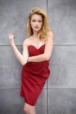 Amber Heard 11x17 Mini Poster (28cm x43cm) #01 Red Dress