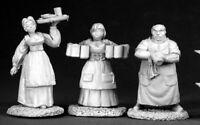 Reaper Miniatures Townsfolk I (3 Pieces) #02583 Dark Heaven Unpainted Metal