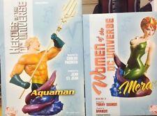 Aquaman and Mera Bust Statue Set NIB