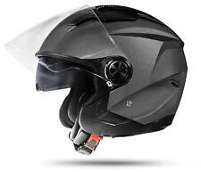 LA Street Jethelm Grau M Motorradhelm Anthrazit Silber mit ECE 2205 Sonnenblende
