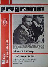 Program 1984/85 Motor Babelsberg - Union Berlin
