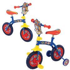 """Paw Patrol Kids Toddlers 2-In-1 Balance Pedal Training Bike 10"""" Wheel  M004177"""