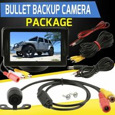 "4.3"" Tft Lcd Monitor Car Rear View System Backup Reverse Bullet Style Camera Kit"
