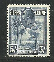 Album Treasures Sierra Leone  Scott # 150  5sh George V Palms & Kola Tree MNH