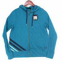 Under Armour Women's Blue Full Zip Athletic Hoodie Sweatshirt NWT - Size Medium