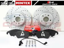 FOR AUDI S4 B8 S5 V6 V8 FRONT PERFORMANCE DIMPLED BRAKE DISCS MINTEX PADS 345mm