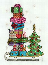 Klart Counted Cross Stitch Kit -  Christmas - Sledge With Presents