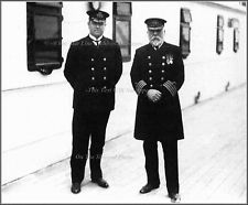 Photo: Purser McElroy & Captain EJ Smith On RMS Titanic's Deck, April 10th, 1912