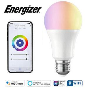 Energizer Smart LED GLS Bulb 9w Colour Changing Alexa Google Siri B22 BC E27 ES