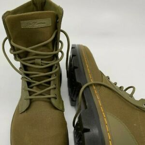 Dr. Martens Combs Nylon Grenade Green Ankle-High Canvas Boots - 12M Unisex