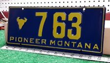 MONTANA - 50s era first issue PIONEER license plate, nice number, choice cond.