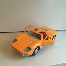 VINTAGE BANDAI TIN BATTERY OPERATED FORD GT40 IN ORANGE! FULLY WORKING! SWEET!!