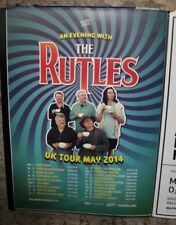 THE RUTLES A3 POSTER (AN EVENING WITH) - UK TOUR, MAY, 2014