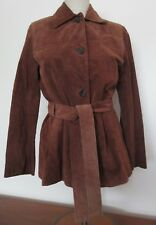 Andrew Marc Woman's Brown Suede Leather Jacket Coat XS